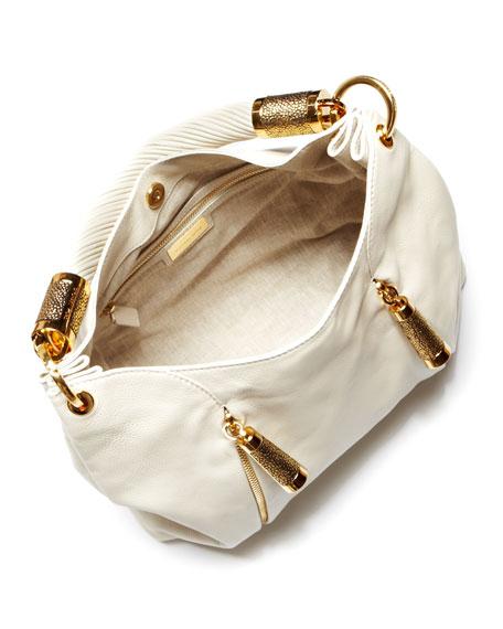 Tonne Pebbled Leather Hobo Bag