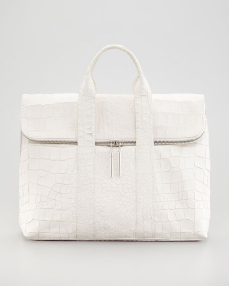 Crocodile-Embossed 31-Hour Bag