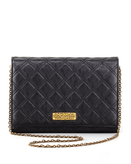 All-in-One Quilted Clutch Bag, Black