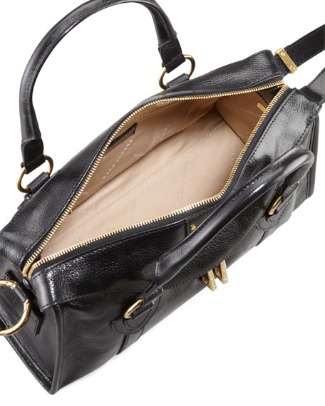Fulton Top-Handle Bag, Black