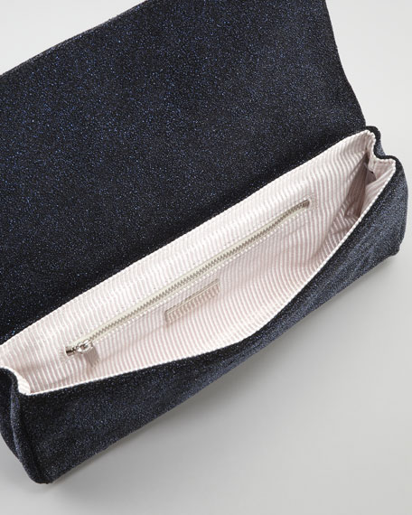 Caroline Crystallized Clutch Bag, Cobalt