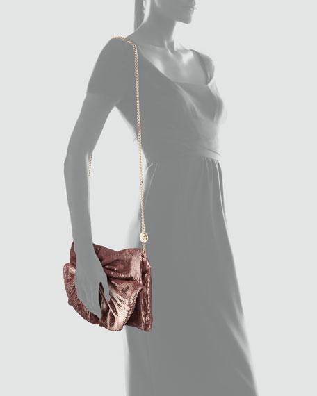 Sequined Bow Shoulder Bag, Cammeo