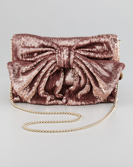 Sequined Bow Shoulder Bag, Cammeo