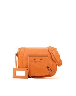 Balenciaga Classic Neo Folk Bag, Tangerine