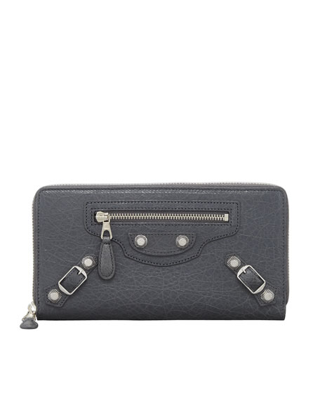 Giant Nickel Continental Zip Wallet, Gris Tarmac