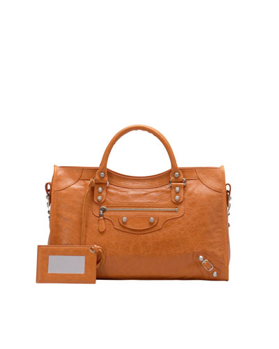 Balenciaga Giant 12 Nickel City Bag, Tangerine