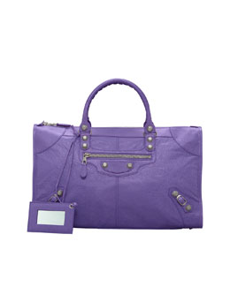 Balenciaga Giant 12 Nickel Work Bag, Mauve