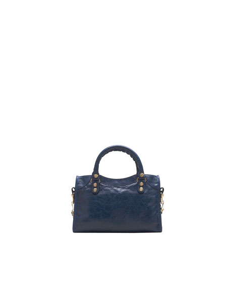 Giant 12 Golden Mini City Bag, Bleu Mineral