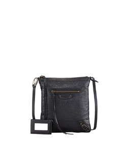 Balenciaga Classic Flat Crossbody Bag, Black