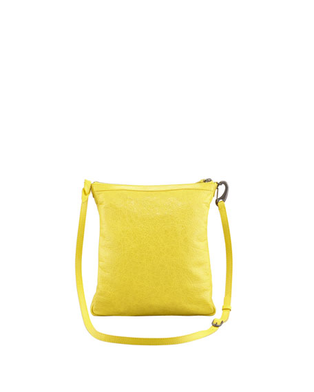 Classic Flat Crossbody Bag, Curry