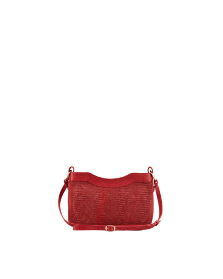 Giant 12 Golden Canvas Hip Crossbody Bag, Rouge