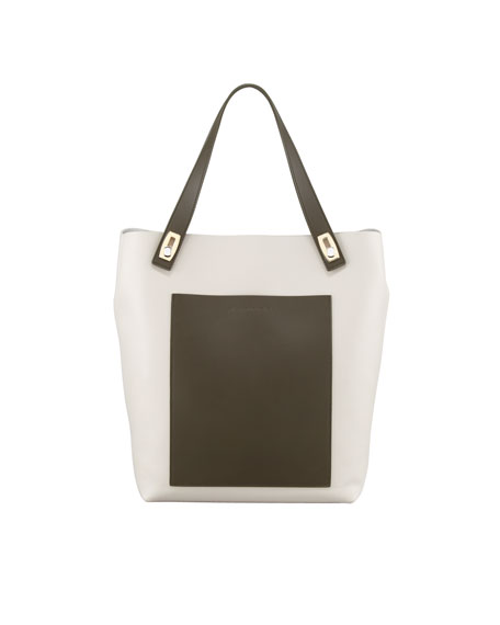 Small Pocket Tote Bag, Acier Jaune