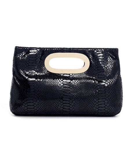 Berkley Patent Python-Embossed Clutch Bag