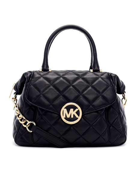 Large Fulton Quilted Leather Satchel Bag