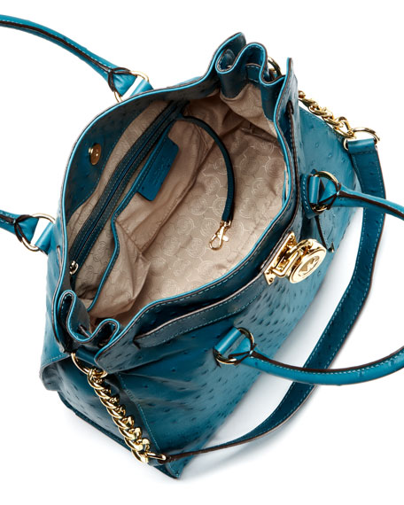 0a26e321b5fa MICHAEL Michael Kors Large Hamilton Ostrich-Embossed Tote Bag