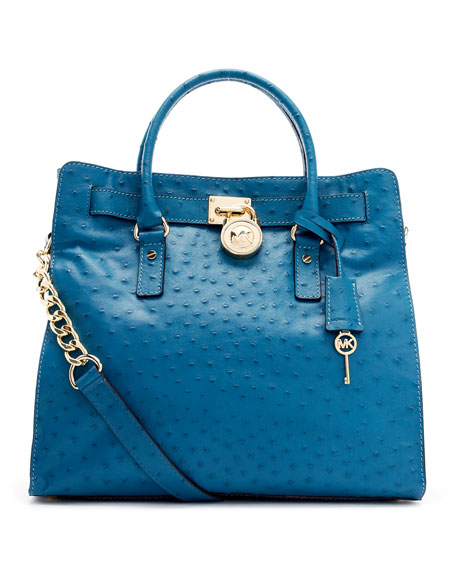 Hamilton Ostrich Embossed Tote Bag