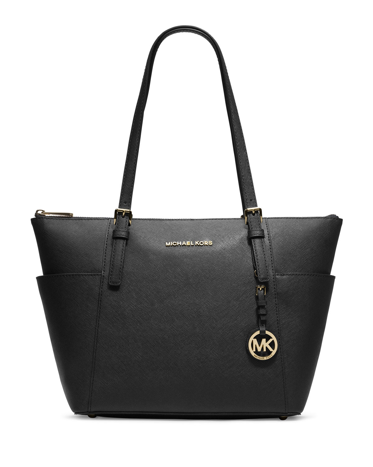 68bc18637403c MICHAEL Michael Kors Jet Set Top-Zip Saffiano Tote Bag