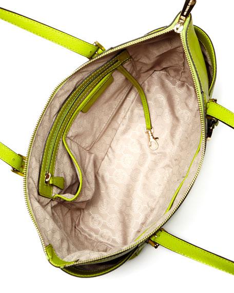 Jet Set Saffiano Top-Zip Tote Bag