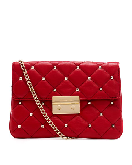 Oversize Sloan Studded Quilted Clutch Bag