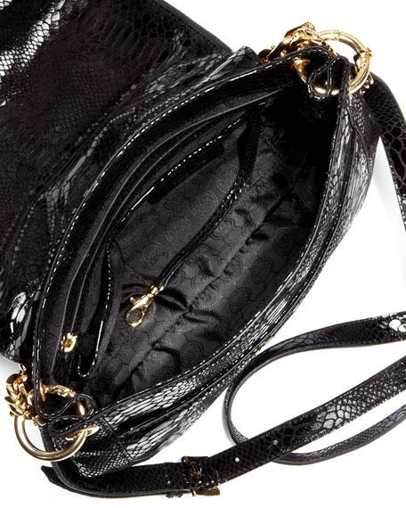 Medium Stanthorpe Python-Embossed Shoulder Bag