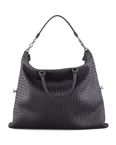 Convertible Veneta Tote Bag, Black