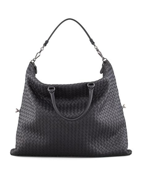 Convertible Veneta Tote Bag, Black