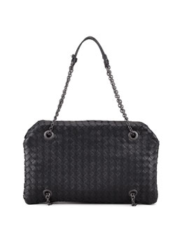 Bottega Veneta Veneta Small Shoulder Bag, Black