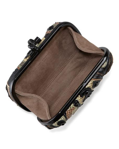 Knot Butterfly Snakeskin Clutch Bag