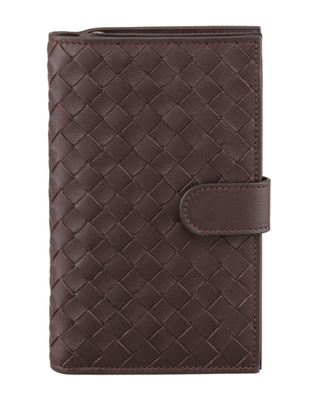 Woven Continental Fold Wallet, Brown