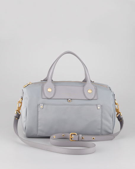 Preppy Nylon Taryn Satchel Bag, Storm Cloud