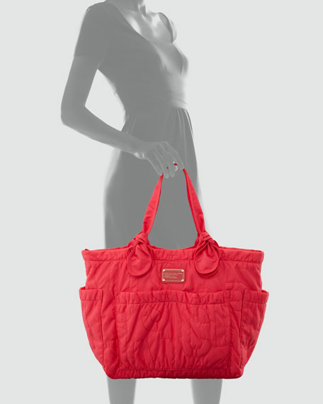 Pretty Nylon Medium Tate Tote, Rock Lobster