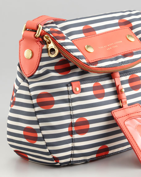 Preppy Nylon Natasha Dot-Striped Crossbody Bag