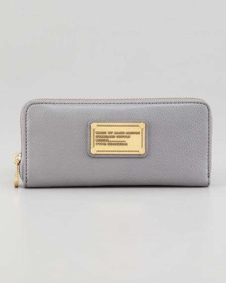 Classic Q Slim Zip Continental Wallet, Storm Cloud