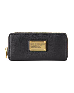 MARC by Marc Jacobs Classic Q Slim Zip Continental Wallet, Black