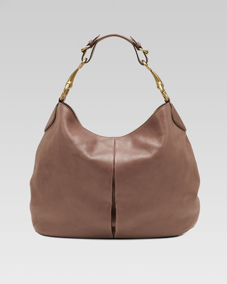 Soft Icon Leather Hobo Bag, Pink