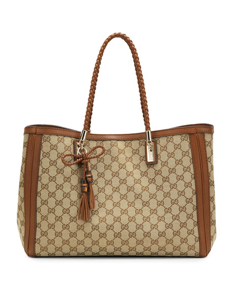 Bella Original GG Canvas Tote, Cuir