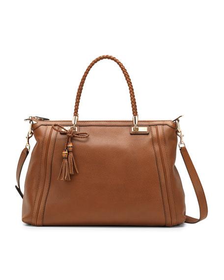 Bella Medium Top-Handle Bag, Cuir