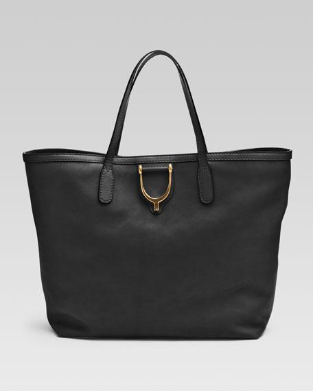 Soft Stirrup Medium Tote Bag, Black
