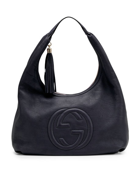 Soho Leather Hobo, Blue