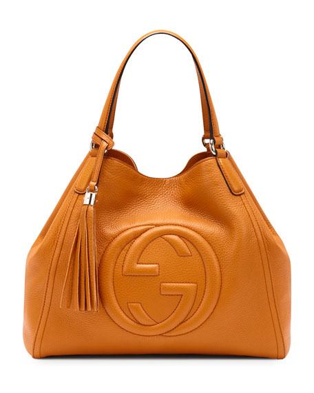 Soho Leather Shoulder Bag, Sunflower