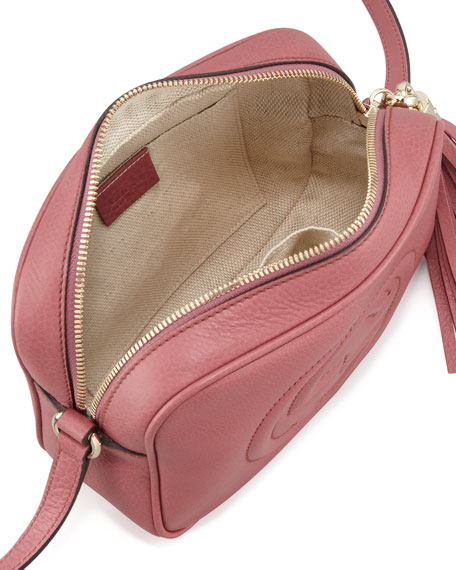Soho Leather Disco Bag, Rose