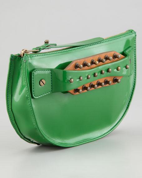 Studded Hand-Strap Coin Clutch Bag, Rasta