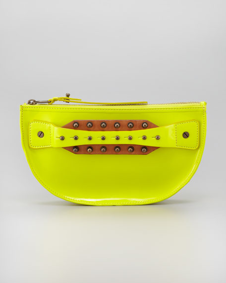 Studded Hand-Strap Coin Clutch Bag, Citrus