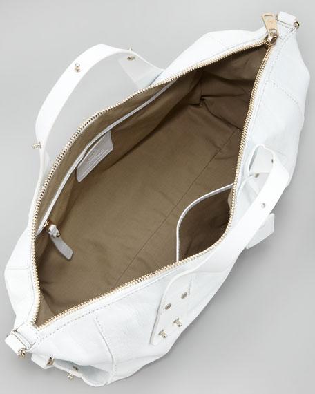 Stratford Satchel Bag, Bleached White