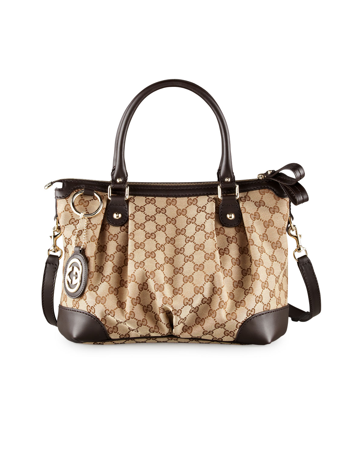 4626545b0a5d Gucci Sukey Original GG Canvas Top-Handle Bag, Cocoa | Neiman Marcus