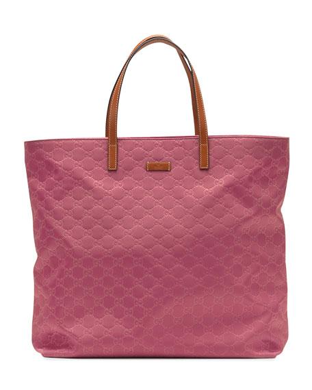 Nylon Guccissima Tote Bag, Vintage Rose