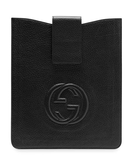 Soho Leather iPad Case, Black