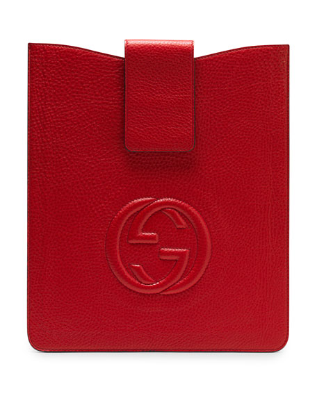 Soho Leather iPad Case, Red