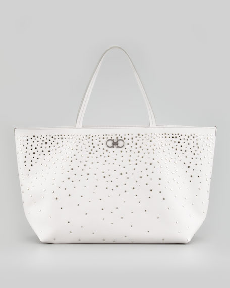 Bice Studded Tote Bag, Ash