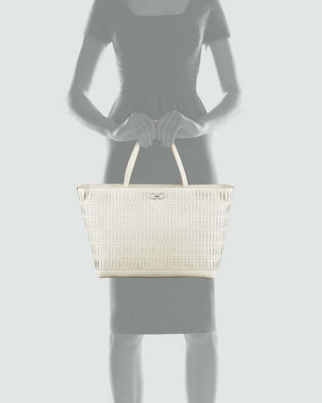 Bice Woven Tote Bag, Clay